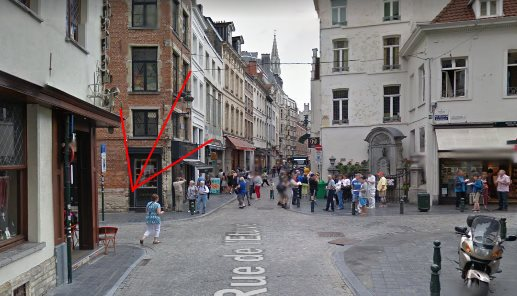 Meeting point ghost tour Brussels picture
